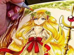 Magi Scheherezade Copic Drawing - YouTube