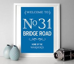 personalised street address family name print by i love design | notonthehighstreet.com