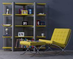 yellow Barcelona chair
