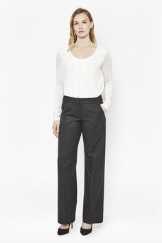 Elly Flannel Bootcut Trousers - Trousers & Shorts - Great Plains