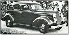 1937 DODGE, D-5: Instrument panels received quite a bit of attention for 1937 . Knobs were recessed and gauges set flush with the surface. Door handles were curved inward to prevent clothes from snagging, and built-in defroster vents made their first appearance on Dodge as in the other Chrysler cars. The addition of a hypoid rear axle allowed for a lower floor.