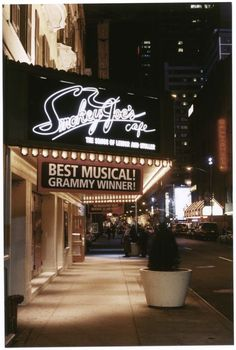 Smokey Joe's Cafe: The songs of Leiber and Stoller - Virginia Theatre Marquee (2000)