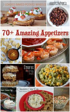 70+ Appetizer Recipes to Make Any Party a Hit.  THESE LOOK AMAZING!!!