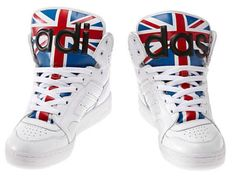 Now Buy Adidas Jeremy Scott Instinct Hi Union Jack Shoes Save Up From Outlet Store at Airyeezyshoes. Jack Shoes, Jeremy Scott Adidas, High Top Sneakers, Shoes Sneakers, Union Jack, Clothes Horse, Converse Chuck Taylor, Adidas Originals, Lockers