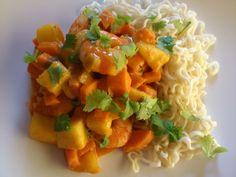 Edel's Mat & Vin : SCAMPI med mango og søtpotet curry & SOAVE hvitvin...