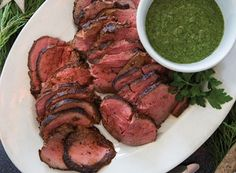 Chargrilled Beef Tenderloin with Chimichurri Recipe from #PublixAprons. This was amazing! I cut the recipe down to 2 1/2 pounds of tenderloin and had to double the amount of rub.