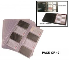 Ie business card holder red law office at home pinterest bond street inserts plastic business card holder pack of 10 sheets inserts 10 sheets fits 16 cards 8 front 8 back will insert into 3 ring binders reheart Images
