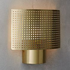 perforated wall sconce