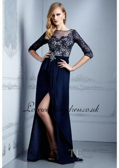 navy blue lace long sleeve prom dress « Bella Forte Glass Studio
