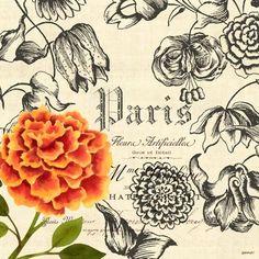 Vintage Floral-Carnation by Jennifer Brinley | Ruth Levison Design