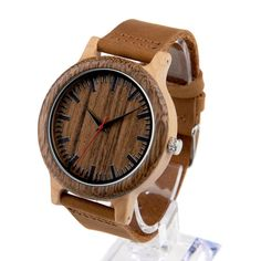 Cheap watch with, Buy Quality watch with leather band directly from China watch men Suppliers: BOBO BIRD Mens Watches Fine Wood Bezel Bamboo Watch with Leather Band in Gift Box relojes mujer 2017 Wooden Watches For Men, Best Watches For Men, Cheap Watches, Casual Watches, Black Leather Watch, Leather Watch Bands, Real Leather, Soft Leather, Wooden Man