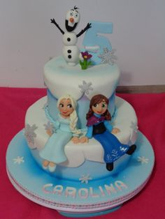 Bolo Frozen com Elsa e Ana