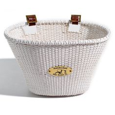 Nantucket Bike Basket Co. Lightship Adult Oval Basket - White - C/011/A