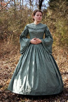 Civil War Day Dress Costume Reenactment by garlandofgrace on Etsy