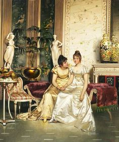 A Shared Confidence (Charles Joseph Frederick Soulacroix - )