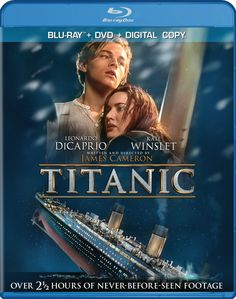 Fall in love with Leonardo DiCaprio and Kate Winslet all over again in the epic film 'Titanic' arriving to DVD, Blu-ray and Blu-ray on Monday, September 2012 Billy Zane, Kate Winslet, Popular Movies, Great Movies, Awesome Movies, Leonardo Dicaprio, Titanic Film, Rms Titanic, Titanic History