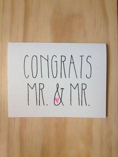 Congrats #Wedding Card #etsy