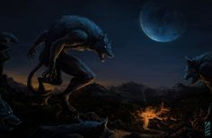 Werewolf Attack (New version 2014) by LauraBevon.deviantart.com on @DeviantArt