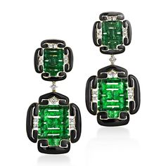 David Webb | Collections | ancient world | Double Happiness Jade Earrings