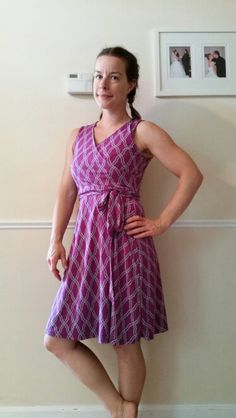 41Hawthorn :: Kassidy Faux Wrap Dress - Love the gorgeous color and simple pattern! The faux wrap tends to be flattering for me.