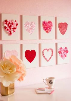 Valentine's Day is adorned with numerous craft specialties. Handmade crafts infuse Valentine's Day with a special color. Numerous easy-to-make craft … Diy Valentine's Day Decorations, Valentines Day Decorations, Valentines Day Party, Valentine Day Crafts, Funny Valentine, Holiday Crafts, Decor Ideas, Homemade Decorations, Art Ideas