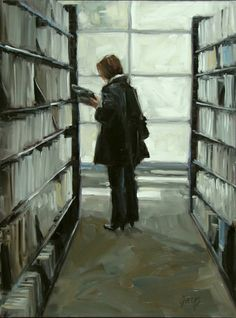 Judging A Book, painting by artist Robin Cheers