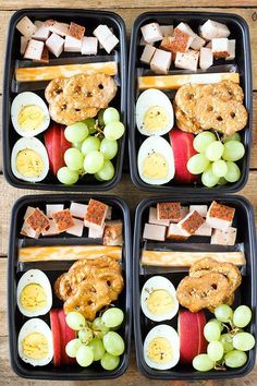 Meal prep ideas + keto recipes for fat loss & muscle building. make ahead deli style protein box Healthy Protein Snacks, Healthy Lunches For Kids, Make Ahead Lunches, Prepped Lunches, Lunch Snacks, Lunch Recipes, Kids Meals, Protein Box, Easy Snacks