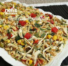 Tavuklu Arpa Şehriye Salatası Yummy Recipes, Easy Casserole Recipes, Sweet Potato Casserole, Soup Recipes, Yummy Food, Noodle Recipes, Healthy Comfort Food, Healthy Eating, Baked Fish Fillet