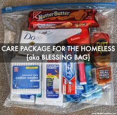 BLONDER AMBITIONS | HOW TO MAKE CARE PACKAGES FOR THE HOMELESS {aka BLESSING…