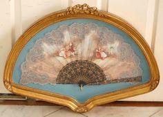 Antique lace fan