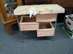 This was the type of changing table my mom used for me, and later my sisters