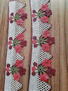 Thread Crochet, Filet Crochet, Crochet Lace, Crochet Borders, Crochet Designs, Diy Flowers, Machine Embroidery Designs, Diy Crafts, Quilts
