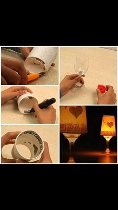 Cute little lamp DIY idea