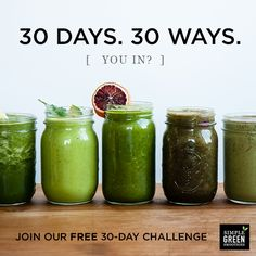 Join us for the free July 30-Day Green Smoothie Challenge! All new recipes to help you drink one green smoothie a day for 30 straight days!