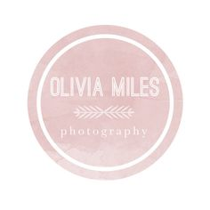 Photography Watermark : Round, Circle, Alternating Font Premade Design, Text, Simple, Minimal, Colorful, Splatter, Arrow, Pink, Girly