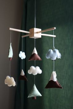 DIY mobile for a mountain themed baby nursery! This project was so fun and turned out great!