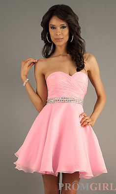 Strapless Party Dress by Alyce Paris 3552 at PromGirl.com