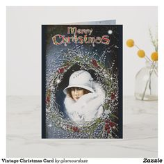 Shop Vintage Christmas Card created by glamourdaze. Vintage Christmas Cards, Retro Christmas, Christmas Shopping, Holiday Cards, Christmas Gifts, Vintage Shops, Retro Vintage, Invitation Cards, Paper Texture