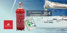 <p>Σαλπάρουμε με ασφάλεια… O πυροσβεστήρας και το φαρμακείο είναι ιδιαίτερα σημαντικά μέσα ασφαλείας για το σκάφος – όχι μόνο για την δική σας ασφάλειά, αλλά και για την ασφάλεια των υπολοίπων επιβατών. Σας προσφέρουμε το Σετ Ασφαλείας για Σκάφος σε…</p>