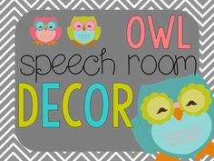 92 pages of owl-themed decorations for your speech room!  Pack includes bunting, lettering for bulletin boards, signs for the room, note sheets, binder covers, labels, bulletin board cut outs, calendar labels, testing/meeting signs, and a behavior clip chart!
