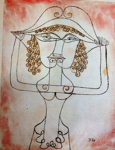 Paul Klee - Die: Sängerin L. als Fiordiligi (The Singer L. as Fiordiligi) (1923)