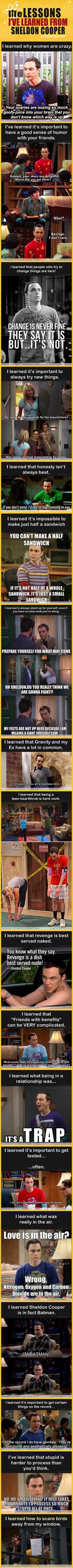 18 Lessons I've Learned From Sheldon Cooper