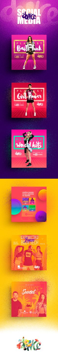 Social Media - Fitdance on Behance
