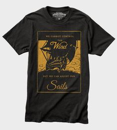 Men's Adjusting Sails T-Shirt | This graphic is printed on a soft and comfy vintage tri-blend ... | T-Shirts