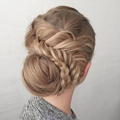 Fishtail braid updo by @n.starck