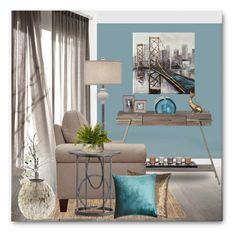 """""""Bridge to Home"""" by brendariley-1 ❤ liked on Polyvore featuring interior, interiors, interior design, home, home decor, interior decorating, Gabby, RtA, Kevin O'Brien and Mitchell Gold + Bob Williams"""