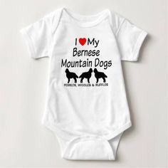 (Baby Loves Three Bernese Mountain Dogs T Shirt) #Bernese #Dog #Dogs #Heart #HeartMy #Love #LoveMy #Loves #Mountain #Silhouette #Three is available on Funny T-shirts Clothing Store   http://ift.tt/2c9lfPc