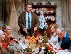 Christmas Dinner at Griswold,s Best Christmas Movies, Lampoon's Christmas Vacation, Retro Christmas, National Lampoons Vacation, Classic Movies, Happy Holidays, Crafts, Lampoons Christmas, Reflection