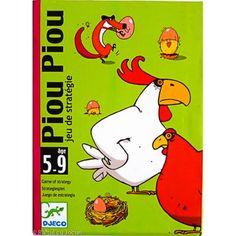 4ani PIU PIU - Este un pachet de carti cu personaje (gaina, cocos, vulpe si cuib) si cu un set de carti-oua. Castiga cel care are primul 3 pui scosi din ou.