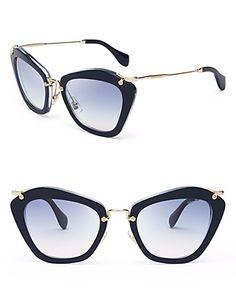 Miu Miu Women s Glitter Cat Eye Sunglasses Jewelry   Accessories -  Bloomingdale s d5388aee2c